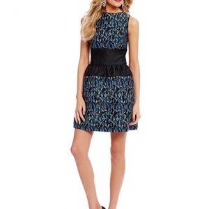 Badgley Mischka Belle Vivian dress blue black